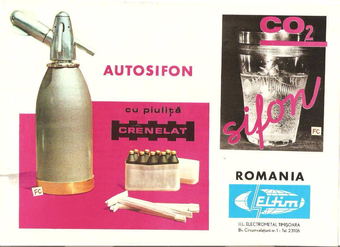 Publicidad en la Rumanía comunista (1).  Bebidas refrescantes
